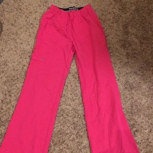 XXS dickies hot pink scrub buttoms